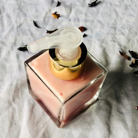Sabonete facial de hibisco com ativos nanoencapsulados