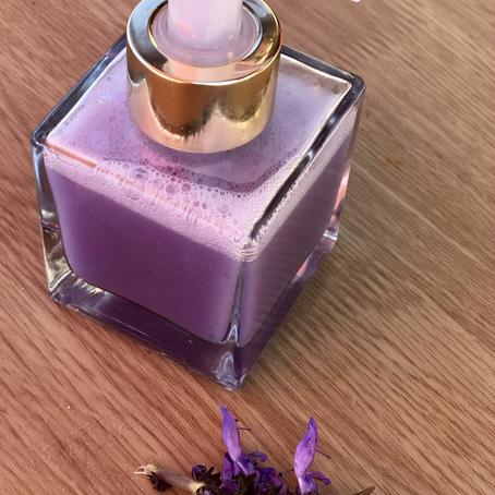 Como fazer sabonete líquido facial lilás (colorido)