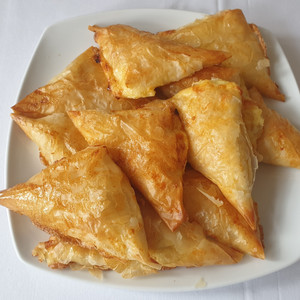 Pastry leaf cheese pies