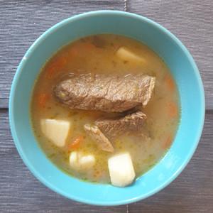 Vrasto soup (beef and veg soup)