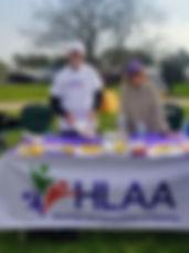 John and Bindy HLAA information table.jp