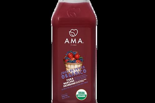 Jugo Ama Manzana arándano orgánico 300 ml