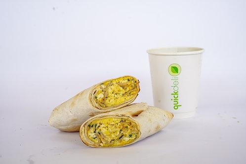 Wrap Huevo Turkey + Espresso / Americano / Te