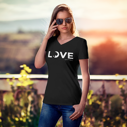 Love Luna Unisex V-Neck T-Shirt