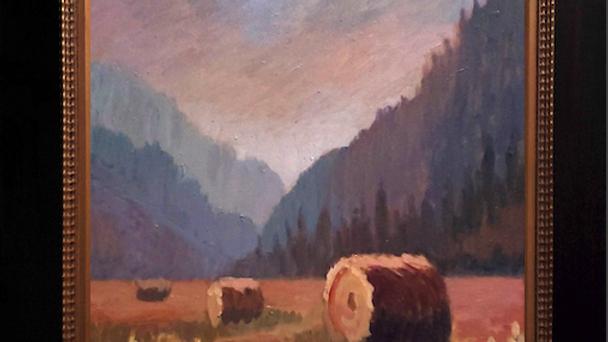 Montana Haybales in Summer Haze SOLD