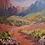 Thumbnail: Kings Trail Sedona Arizona 60 by 60 Framed SOLD