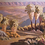 Thumbnail: Indian Canyons in Early Morning Light 62 by 72 framed HOLD