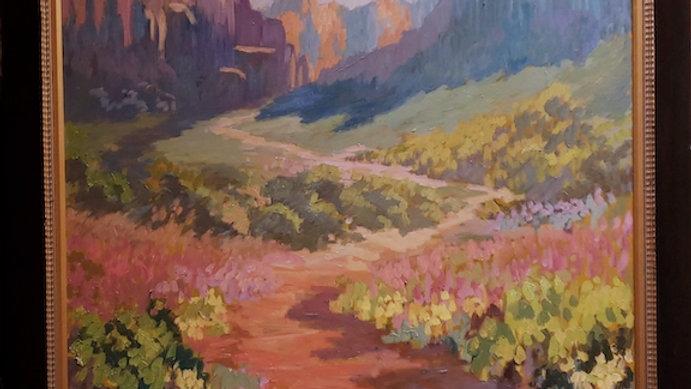Kings Trail Sedona Arizona 60 by 60 Framed SOLD