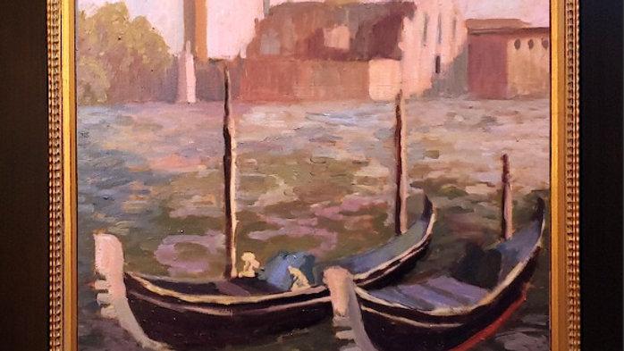 Venice Boats at Saint Marks