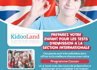 Préparez votre enfant pour les tests d'admission à la section internationale à domicile.