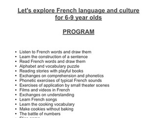 Learn French at KidooLand this Summer