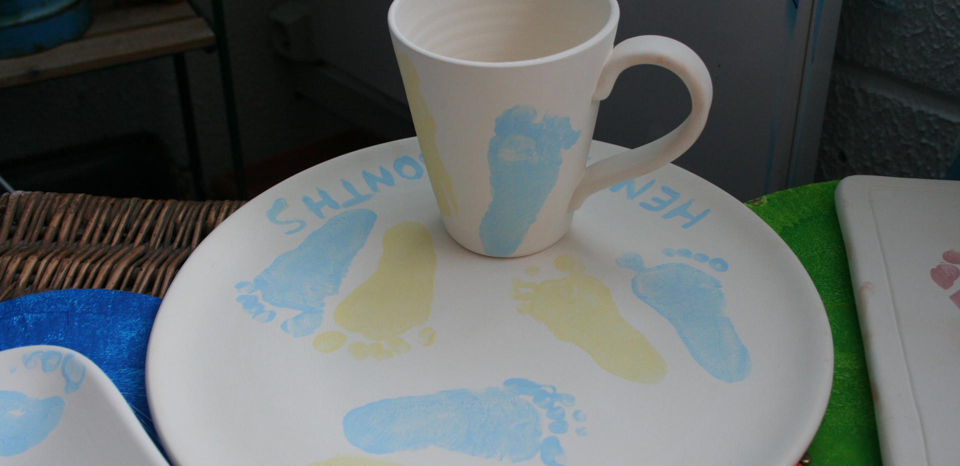 creative painting on ceramic