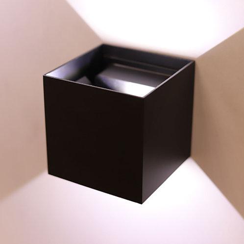 კედლის სანათი Cube Black