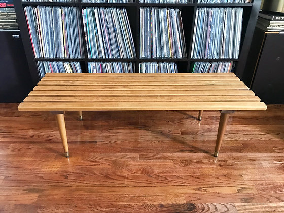 MID CENTURY SLAT COFFEE TABLE
