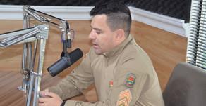 Sargento cita campanha e alerta para violência doméstica