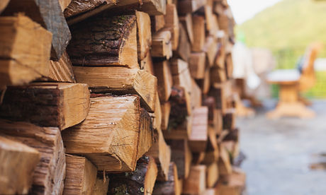 Stacks of Firewood. Preparation of fire