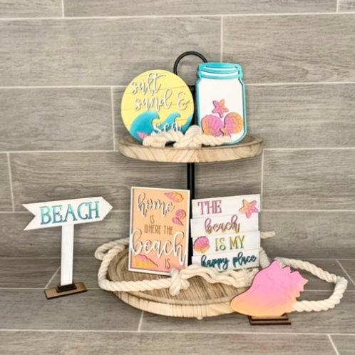 Beach tiered tray decor #1