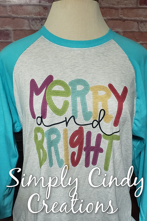 Merry & Bright raglan (adult)