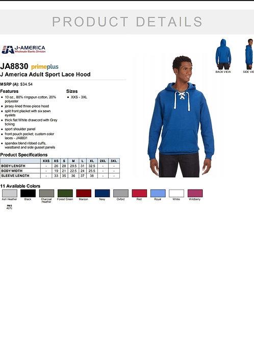 hockey lace unisex hoodie