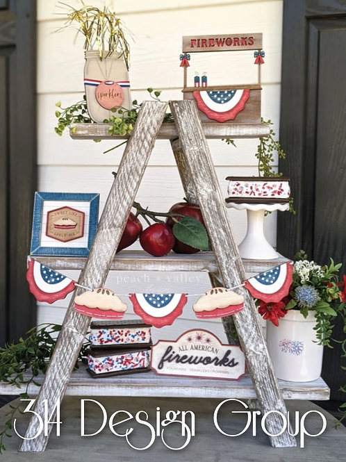 July 4th - traditional tiered tray DIY kit