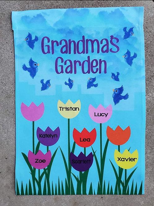Grandma's Garden garden flag