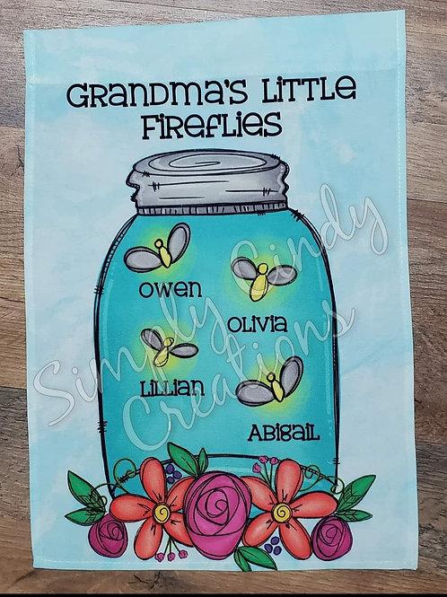 Grandma's Little Fireflies garden flag