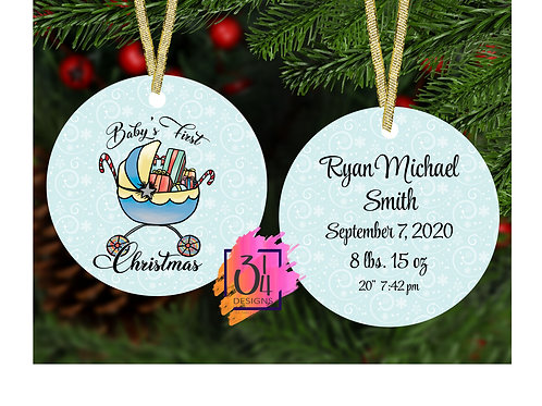 Baby's first Christmas (boy) ornament 2020