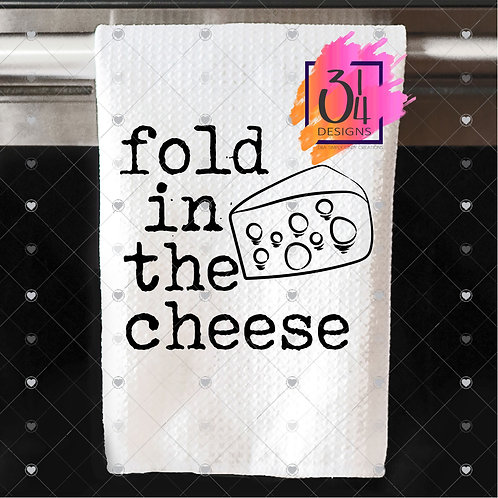 Fold in the cheese hand towel (2)