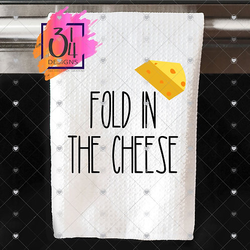 Fold in the cheese hand towel (1)