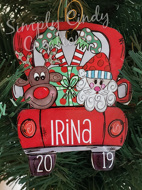Christmas truck -custom (single)
