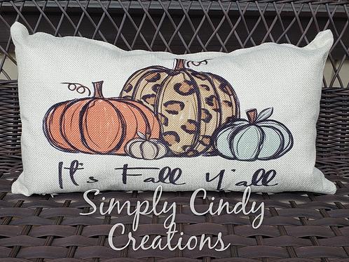 12x18 throw pillow Leopard pumpkin