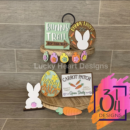 Easter tiered tray decor #1