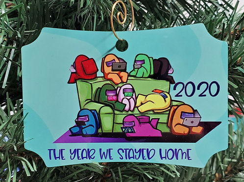 The Year We Stayed Home - Among Us ornament