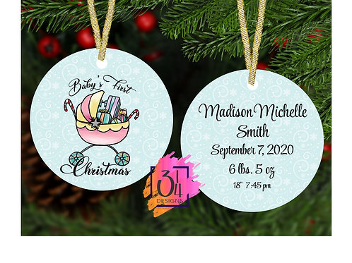 Baby's first Christmas (girl) ornament 2020