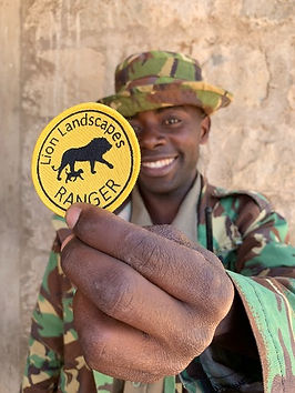 Lion Ranger trained by Lion Landscapes. Save wild lions. Promote co-existence. Support Lion Rangers. Lion conservation and research in Africa.