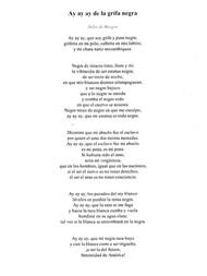 ay ay ay de la grifa negra by Julia de Burgos