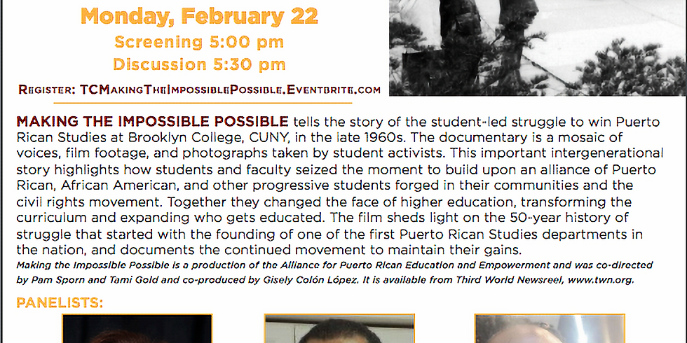 Teacher's College Screening: Making The Impossible Possible