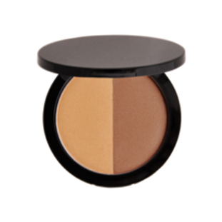 Matte and Shimmer Finish Two Tone Bronzer Earth