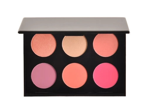 6 Shade Rose Blush Palette with Mirror