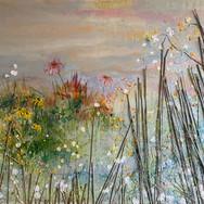 SOLD Misty flowerfield