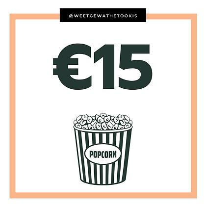Donatie - Ter waarde van een cinematicket