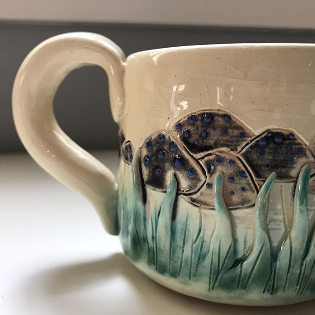 Mushroom mug also up on the Etsy now