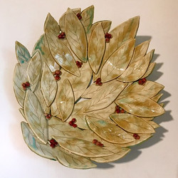 Just got the moment to add this hand-built bowl with berries to my Etsy shop