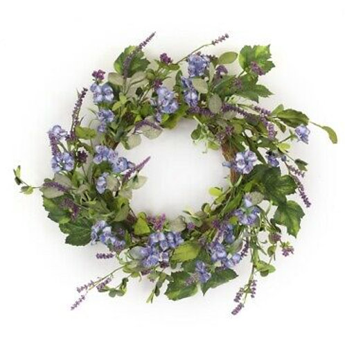 M.R. Floral and Lavender Wreath