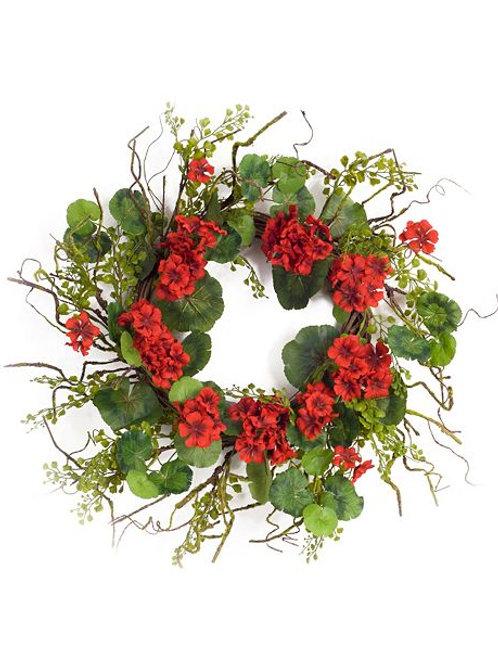 M.R. Geranium Wreath