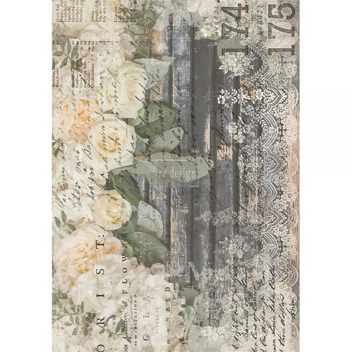 Redesign Decor Transfers - White Fleur