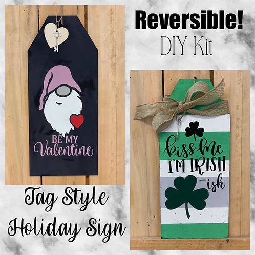 Reversible Tag Style Sign DIY Kit