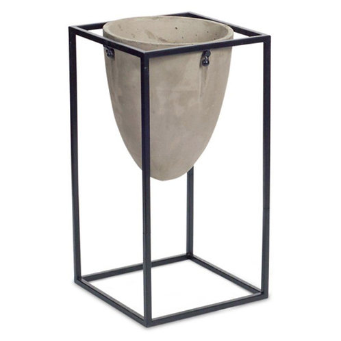 M.R. Oval Pot with Stand