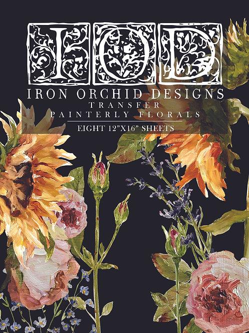 Painterly Florals IOD Transfer