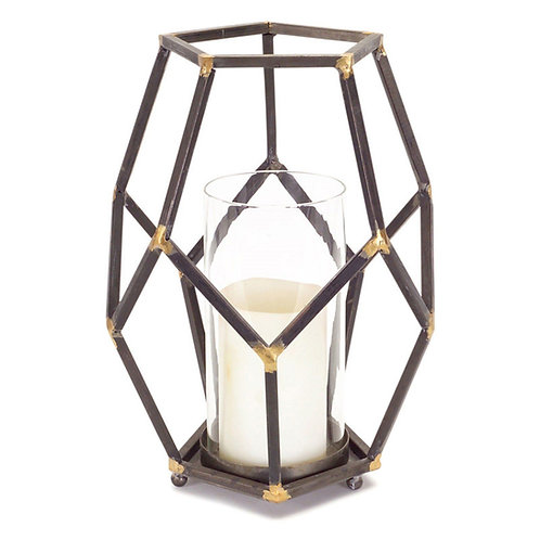 M.R. Open Design Candle Holder w/ Glass